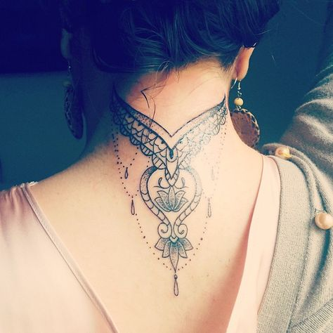 35 Awesome Back of the Neck Tattoo Designs – Way To The Mind