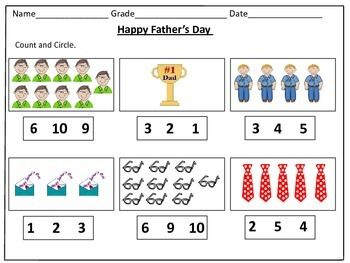 Father S Day Counting Worksheets 1 20 Fathers Day Father S Day Activities Counting Worksheets