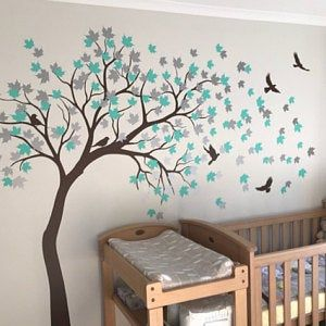Large White Tree Wall Sticker White Tree Decal Wall Mural Sticker