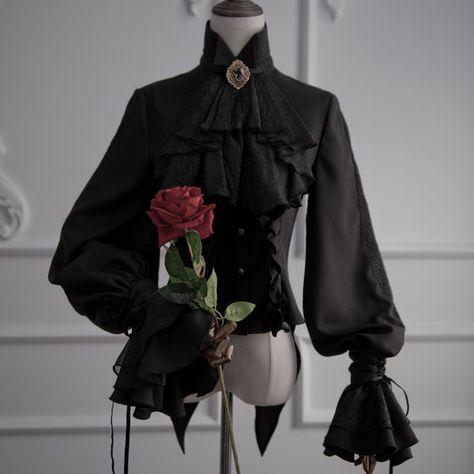 ZJ Story -The Kindred- Gothic Ouji Lolita Blouse - Viktor - Victorian Fashion, Gothic Fashion, Victorian Gothic, Steampunk Fashion, Emo Fashion, Medieval Fashion, Gothic Steampunk, Vampire Fashion, Fashion Women
