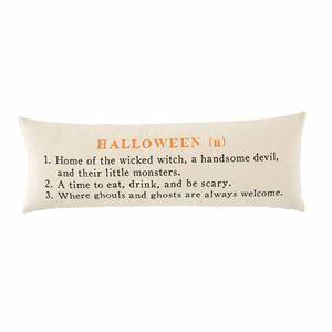 Mud Pie Halloween 2020 Halloween Definition Pillow by Mudpie in 2020 | Halloween