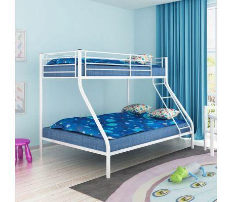 Wit Metalen Stapelbed.Vidaxl Stapelbed Voor Kinderen 200x140 200x90 Cm Metaal Wit