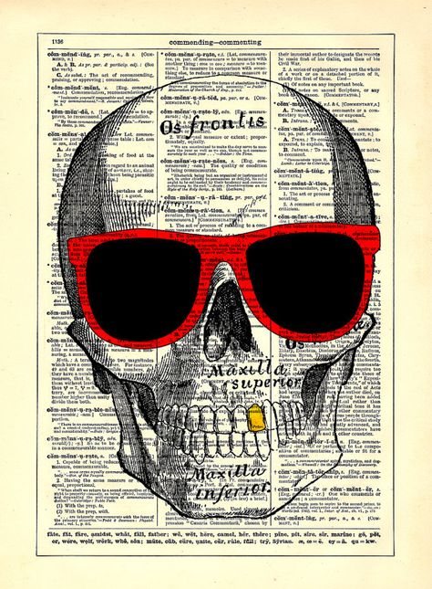 Sunglasses Skull Home Kitchen Nursery Bath Office by StayGoldMedia