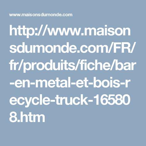 Bar En Metal Et Bois Recycle Meuble Bar Maisonsdumonde Et
