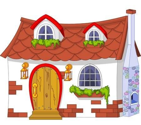 73 Idees De Maisons Clipart Clipart Illustration De Maison Petites Entrees De Maison