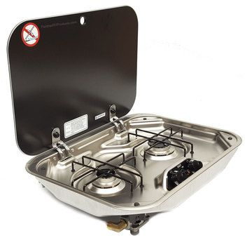 Smev Pi8022us 2 Burner Rv Marine Propane Cooktop W Glass Lid Cooktop Rv Propane