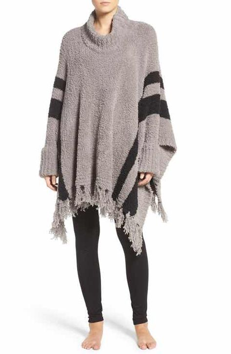 cozy chic beach' fringe lounge poncho | barefoot dreams