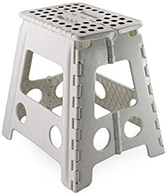 Awe Inspiring One Step Folding Plastic Stool Portable Fold Up Footstool Creativecarmelina Interior Chair Design Creativecarmelinacom