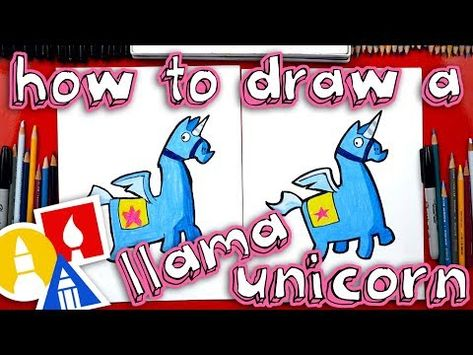 How To Draw Fortnite Unicorn Llama , YouTube