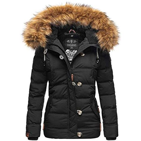 Navahoo warme Damen Winter Stepp Jacke Teddyfell Winterjacke