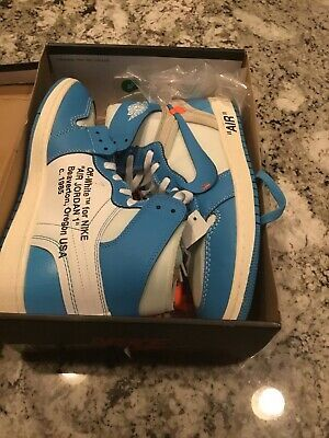 Ebay Sponsored Air Jordan 1 X Off White Nrg Unc Powder Blue Sz 10