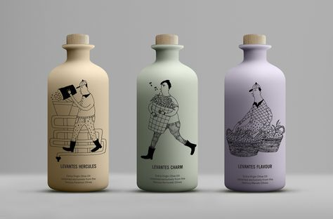 Levantes Family Farm Olive Oil on Packaging of the World - Creative Package Design Gallery Olive Oil Packaging, Milk Packaging, Bottle Packaging, Brand Packaging, Design Packaging, Dairy Packaging, Cute Packaging, Design Agency, Branding Design