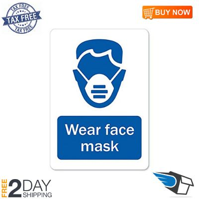 Ebay Ad Link Wear Face Mask Vinyl Decal Protect Your Home Made In The Usa In 2020 Vinyl Decals Business Signs Protecting Your Home