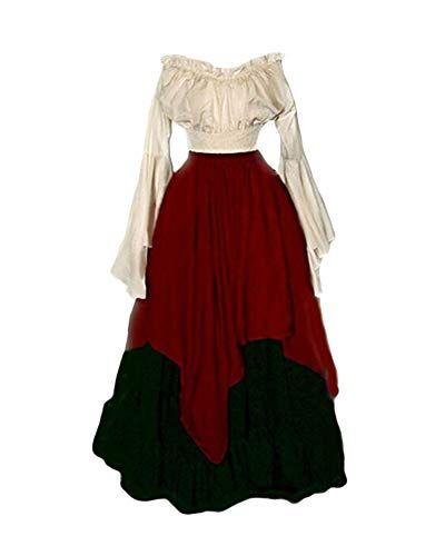 Adulto GONNA DA DONNA Steampunk Vittoriano 1920 S Costume Vestito