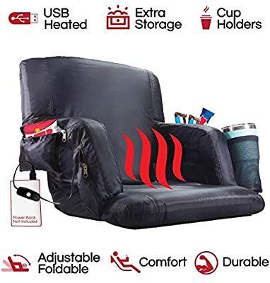 Amazon Com Pop Design The Hot Seat Heated Stadium Bleacher Seat