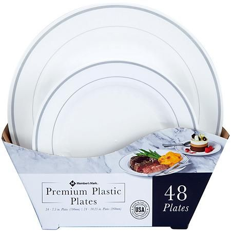 Plates In 2021 Clear Plastic Plates Fancy Disposable Plates Plastic Party Plates