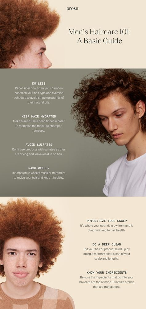 Men's Hair Care 101: A Basic Guide | At Length by Prose Hair