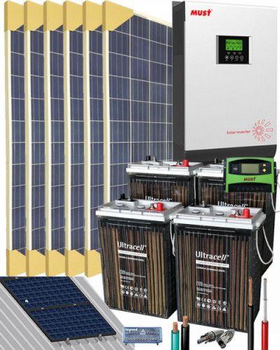 Kit Solar Casa Campo 3000w 24v 6400whdia Kit Solar Casas De Campo Sol