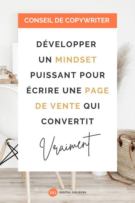 Développer un mindset puissant pour écrire une page de vente qui convertit vraiment
