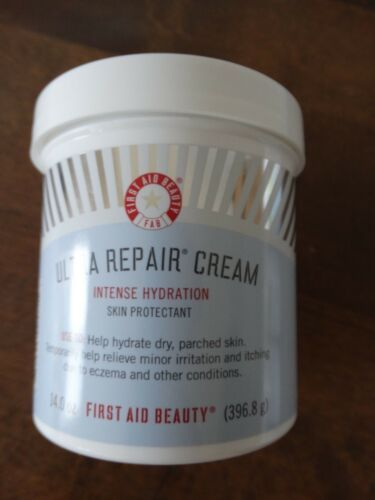 First Aid Beauty Fab Ultra Repair Cream Intense Hydration Jumbo 14 Oz New Sealed Repair Cream First Aid Beauty Repair