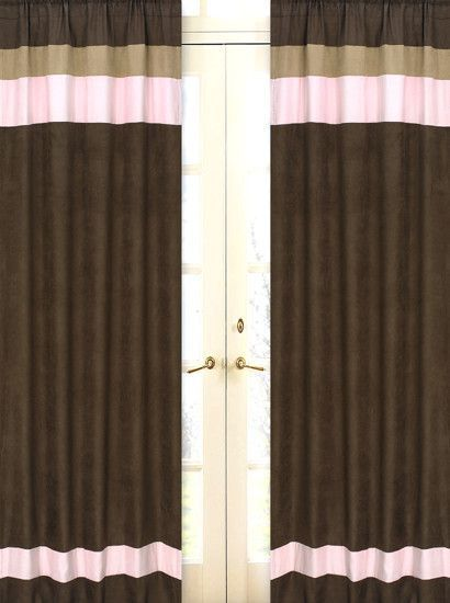 Soho Pink And Brown Curtain Panels Blackoutcurtains Brown