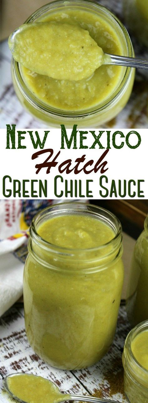 Bring a taste of New Mexico to your table with this traditional Hatch green chile sauce! It's incredible on burritos and enchiladas, smothered on eggs or over meat and potatoes at lunch or dinner. Recipes With Enchilada Sauce, Green Enchilada Sauce, Hot Sauce Recipes, Drink Recipes, Dinner Recipes, Chile Colorado, Hatch Green Chili Recipe, Hatch Chili, Hatch Chile Salsa