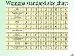 Standard Uk Womens Size Chart Zodomo Com Ayucar Com Womenclothingshops Dress Size Chart Women Size Chart Clothing Size Chart