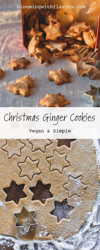 These soft ginger cookies are easy to make, chewy, and irresistibly delicious. The combination of spices and molasses create a perfect cookie recipe for Christmas. #christmasbaking #vegancookies #gingerrecipes | ginger cookies recipe Christmas | vegan cookies recipes egg free | vegan cookies recipes easy