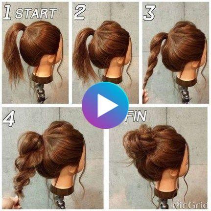 20 Fabulous Simple Bun Hairstyles Ideas For Long Hair Thick Hair Styles Medium Cute Messy Hairstyles Thick Hair Styles