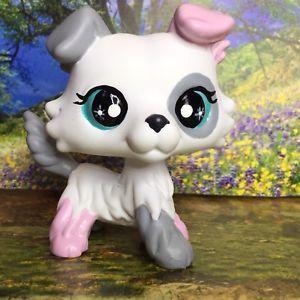 Littlest Pet Shop Dog Puppy Cute Collie Ooak Custom Hand Painted