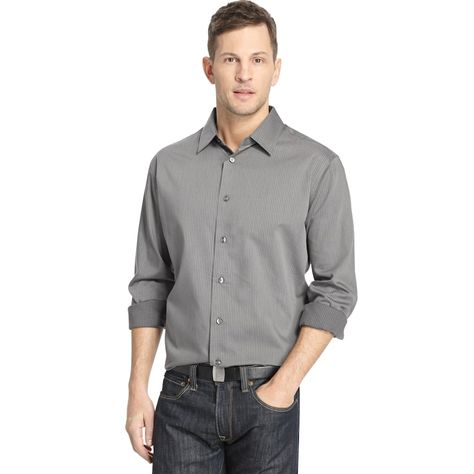 Classics Big and Tall Button Down Striped Shirts