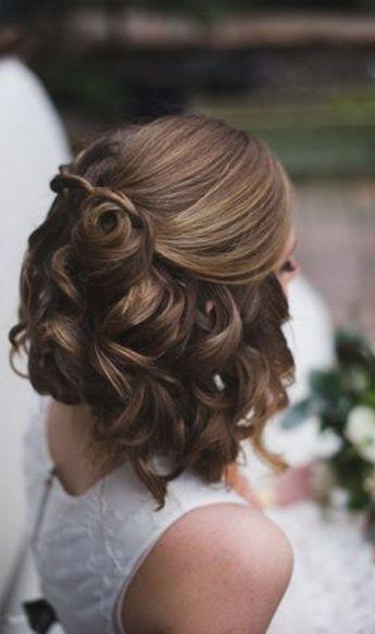 Half Up Down Wedding Hairstyles Short Hair Photography Short Hair Styles Hair Styles Short Wedding Hair