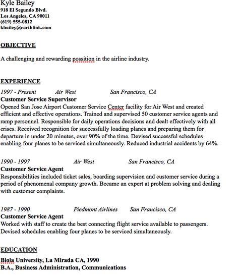 Airline Industry Resume Sample - http\/\/resumesdesign\/airline - airline pilot resume