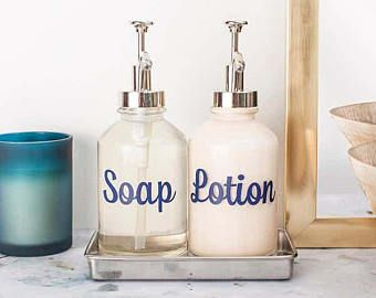Soap Lotion Labels Vinyl Soap Dispenser Label Decal Decal Soap