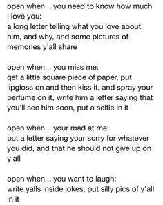Open When Letter For Boyfriend