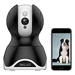 Imillet Wifi Pet Camera Dog Camera With Phone App Fhd Indoor Cat Camera Pet Monitor Night Vision 2 Way Audio Motion Detection Black Dog Supplies Online In 2020 Pet Camera