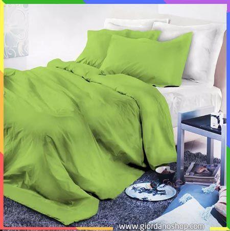 بطانية سرير نوم باللون التفاحي Bedroom Green Bed Bedroom