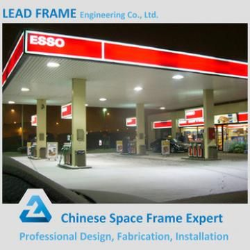 Low Cost Prefabricated Space Frame Petrol Station From China In 2020 Roof Cladding Cladding Space Frame