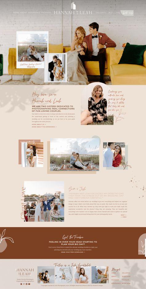 Boho wedding photographer website
