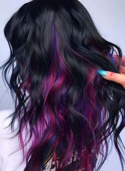 38 Ideas Hair Color Trends Funky For 2019 Hair Styles Hair Goals Color Vivid Hair Color