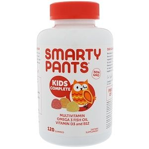 Smartypants キッズ用 マルチ オメガ3系 イチゴバナナ オレンジ レモン グミ120粒 Gummy Vitamins Fish Oil Vitamins Vitamins