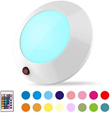 Biglight Battery Operated Led Ceiling Light Indoor Outdoor Color Changing Lights Remote Contr In 2020 Color Changing Lights Wireless Lighting Ceilings Ceiling Lights