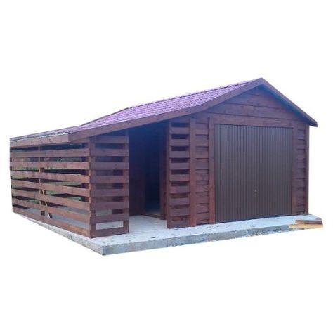 Garaz Drewniany Blaszany Tynkowany Z Wiata Drewutn 7333484354 Oficjalne Archiwum Allegro Outdoor Decor Outdoor Structures Shed