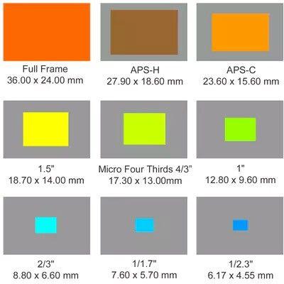 Sensor Sizes Camera Sensor Size Sensor Camera