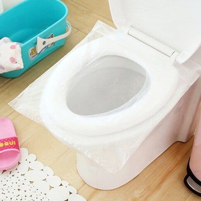 1 Bag 10 Pieces Travel Set Disposable Toilet Seat Cover Water