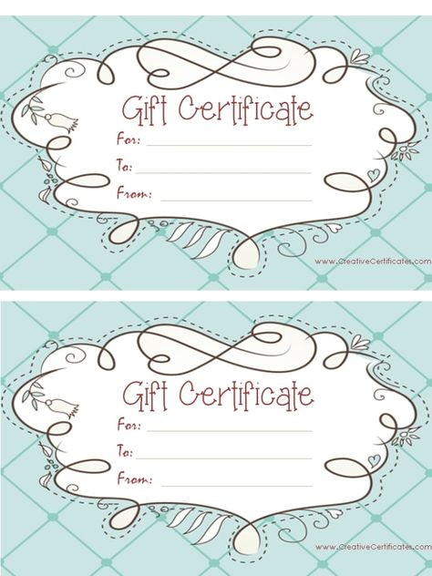 free printable pink gift certificate with a brown drawing u2026 Pinteresu2026 - best of funny gift certificate template