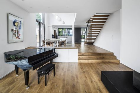 8 best Wohnzimmer images on Pinterest Architects, Modern living - wohnzimmer mit offener küche