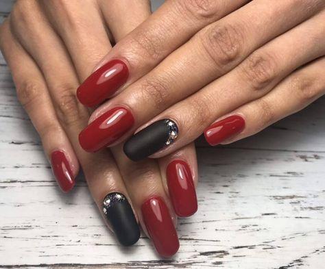 Nail Art 4532 Red Nails Black Nail Designs Red Nail Designs