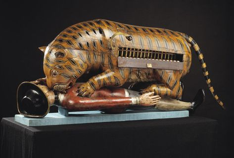 Tippoo's Tiger. Mechanical organ. Mysore, India. 1793. Painted wood with metal fixtures. © Victoria and Albert Museum, London