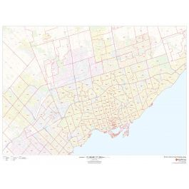 Toronto Canada Zip Code Map City of Toronto Postal Code map | Area map, Postal code map